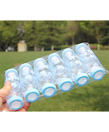 Babies Bloom Feeding Bottle Party Favors Set Of 12 Teddy Design - Light Blue