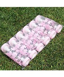 Babies Bloom Feeding Bottle Party Favors Set Of 12 Teddy Design - Light Pink