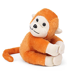 Playtoons Long Tail Monkey Soft Toy Brown - Height 15 Cm