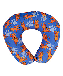 The Crazy Me Travel Neck Pillow My Pet Best Friend Pattern Medium - Blue