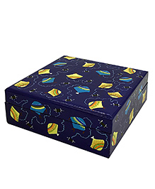 The Crazy Me Wooden Jewellery Storage Box Kite Print - Navy Blue