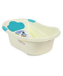 Baby Bath Tub Pony Print - Cream & Blue