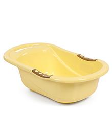 Baby Bath Tub Bear Print - Yellow