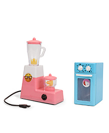 Ratnas Princess Kitchen Appliances Toy 2 In 1 Combo - Blue Pink