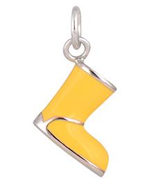 Gempetit Rain Boots Pendant - White Gold