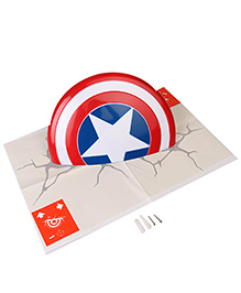 3D Light FX Captain America Shield Wall Lamp - Blue & Red