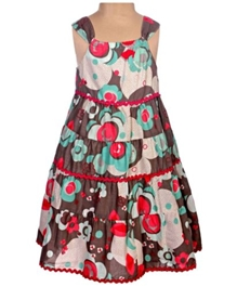 SAPS - Singlet Floral Printed Frock With Lace