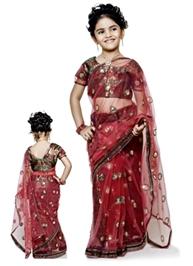 Bhartiya Paridhan - Designer Net Sari With Work