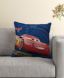 Disney Pixar Cars Filled Cushion With Cover - Blue Red