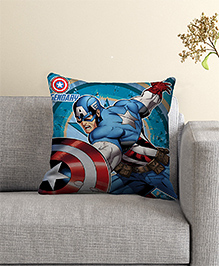 Marvel Captain America Filled Cushion With Cover - Blue