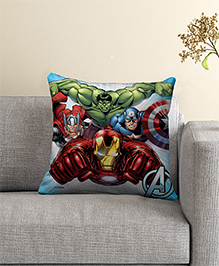 Marvel Avengers Filled Cushion With Cover - Red Green