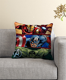 Marvel Avengers Print Filled Cushion With Cover - Multi Color