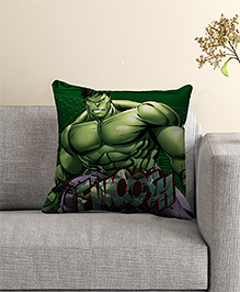 Marvel Hulk Print Filled Cushion With Cover - Green