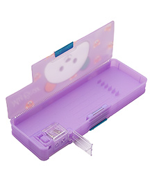 Kidofash Double Door Pencil Box With In-Built Sharpner - Purple