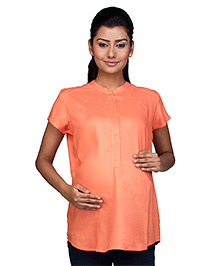 Kriti Half Sleeves Nursing Top - Coral