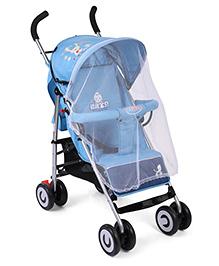 Baby Lightweight Pram Cum Stroller With Mosquito Net - Sky Blue