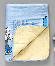 Diaper Changing Baby Mat Girl Print - Blue