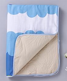 Diaper Changing Baby Mat  Fish Print - Blue