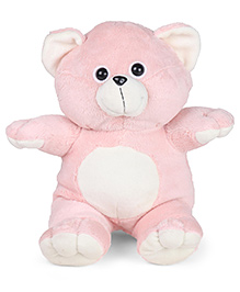 Play Toons Teddy Bear Soft Toy Light Pink & Cream - Height 40 Cm