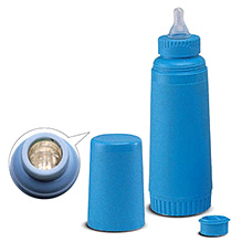 Farlin Unbreakable Insulated Feeding Bottle Blue 250 ml