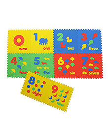 NHR Puzzle Mat With Pop Out Number Characters Pack Of 10 - Multi Colour
