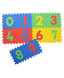 NHR Puzzle Mat With Pop Out Number Pack Of 10 - Multi Colour