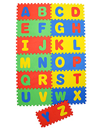 NHR Puzzle Mat With Pop Out Alphabet Pack Of 26 - Multi Colour