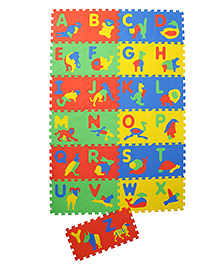 NHR Puzzle Mat With Pop Out Animal & Alphabet Pack Of 26 - Multi Colour