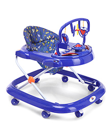 Musical Baby Walker With Rattle Toy Bar - Blue