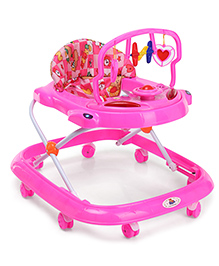 Musical Baby Walker With Rattle Toy Bar - Pink