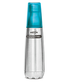 Milton Thermosteel Bottle With Tumbler Glass Silver Blue - 1000 Ml