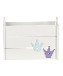 Fly Frog Storage Box With Crown Theme - Blue Purple