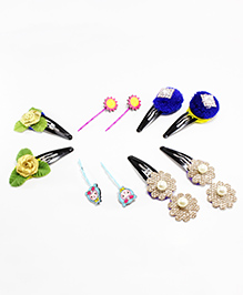 Milyra Floral Hair Pin & Clips - Multicolor