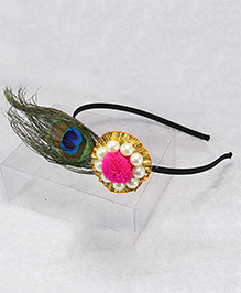 Pihoo Peacock Hair Band - Green
