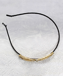 Pihoo Simple Hair Band - Gold & Black