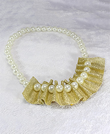 Pihoo Pearl Necklace - Golden & Off White