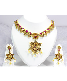 Pihoo Necklace & Earrings - Golden - 1872173