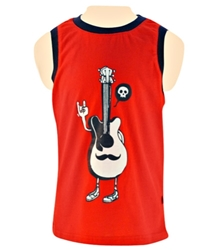 Nauti Nati - Sleeveless T-Shirt With Guitar Print