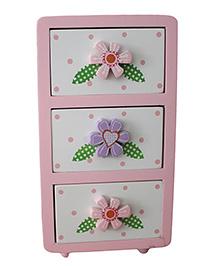 GeekGoodies Wooden Drawer Flower & Heart Design - Multi Colour