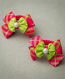 Ribbon Candy Rubber Band - Green & Pink