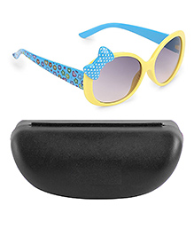 Kidofash Polka Dot Bow Design Sunglasses - Yellow