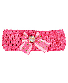 Miss Diva Pearl Studded Soft Headband - Magenta