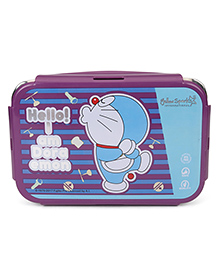 Chhota Bheem Lunch Box With Spoon, Fork & Small Box - Violet Blue