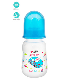 Mee Mee Plastic Feeding Bottle With Slow Flow Teat Blue - 125 Ml