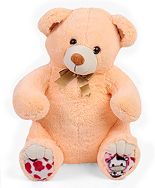 Liviya Master Teddy Bear Soft Toy Peach - Height 77 Cm