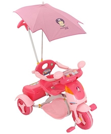 Fab N Funky - Pink Scooter Style Baby Tricycle