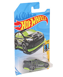 Hot Wheels Checkmate Ford Fiesta Toy Car Model - Black Green