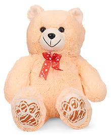 Liviya Sitting Teddy Bear Soft Toy With Bow Red Cream - 40 Cm