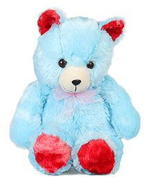 Liviya Teddy Bear Soft Toy Blue Red - 40 Cm