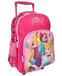 Disney Princess Trolley School Bag Dark Pink - 16 Inches